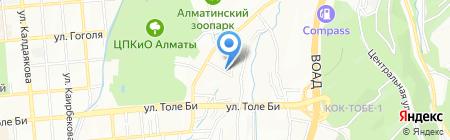 Тартып АО на карте Алматы