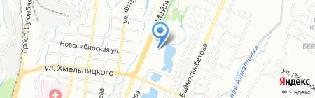 Рахмановские ключи на карте Алматы