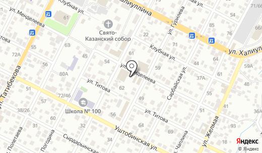 Бутик кондитерских изделий. Схема проезда в Алматы
