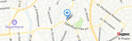 Ак Жол Алматы строй на карте Алматы