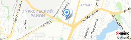 Алтай на карте Алматы