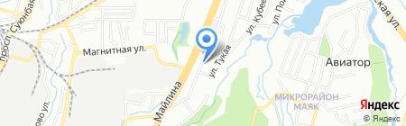 Чайка на карте Алматы