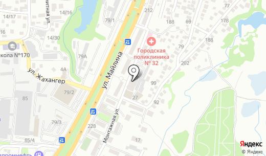 Интернет-клуб. Схема проезда в Алматы