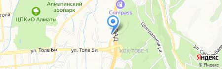 Коркем Тау жилой комплекс на карте Алматы