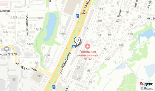 Айман Ломбард. Схема проезда в Алматы