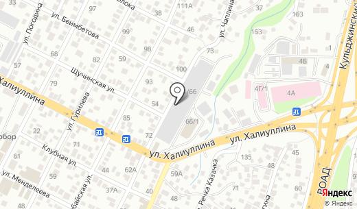 Протэкт. Схема проезда в Алматы