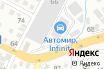 Схема проезда до компании Автомир Infiniti в Алматы