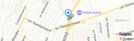 Отдел полиции УВД Медеуского района г. Алматы на карте Алматы