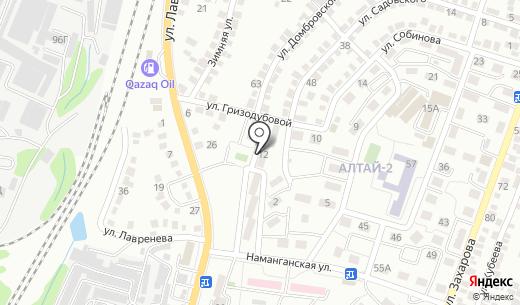 Авиатор. Схема проезда в Алматы