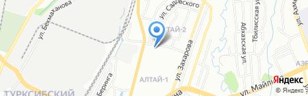 Городской противотуберкулезный диспансер Турксибского района на карте Алматы