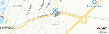 Мирас Авто на карте Алматы