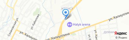 АЗС КазМунайГаз на карте Алматы