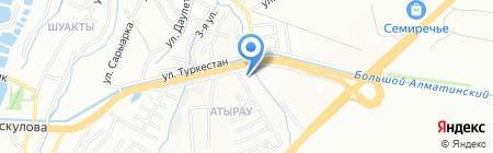 Служба канализационных сетей северо-восточного района г. Алматы на карте Алматы