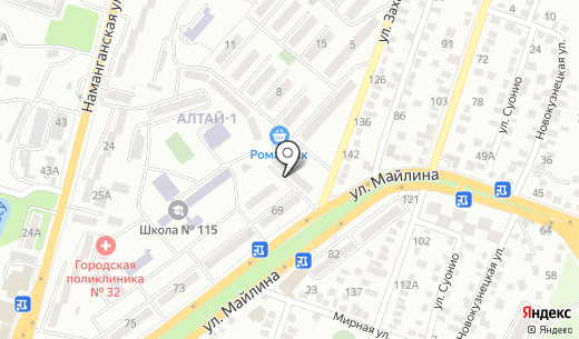 Радуга. Схема проезда в Алматы