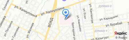 Алматинская многопрофильная клиническая больница на карте Алматы