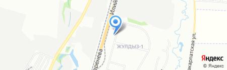 Автостоянка №4 на карте Алматы