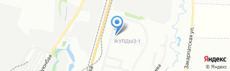 Эвелина на карте Алматы