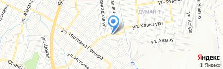 Ноян на карте Алматы