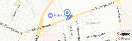 От А до Я на карте Алматы