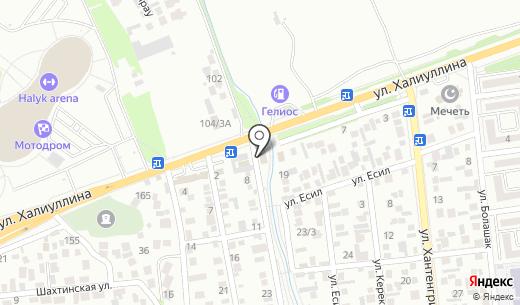 Ис-Дент. Схема проезда в Алматы