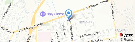 Олжас на карте Алматы