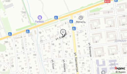 Олжас. Схема проезда в Алматы