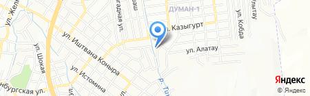 Светофор на карте Алматы