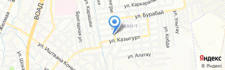 Жалгаз на карте Алматы