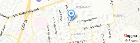 ХанТотас на карте Алматы