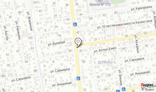 Айка. Схема проезда в Алматы