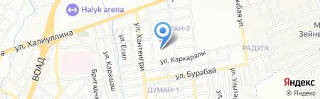 Детский сад №166 на карте Алматы