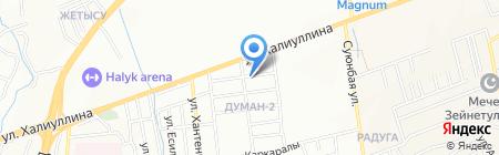 Нур продуктовый магазин на карте Алматы