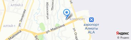 Ясли-сад №185 на карте Алматы