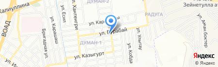 Еркетай на карте Алматы