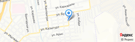 Ерулан на карте Алматы