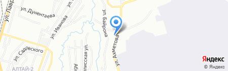 Сания на карте Алматы