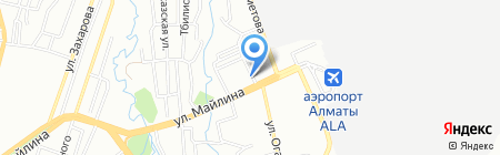Аэросервис на карте Алматы