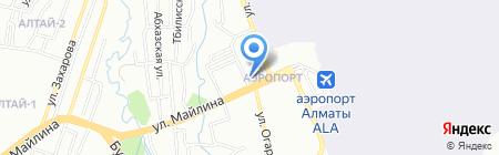 Ак-сункар на карте Алматы
