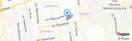 Нурбол продуктовый магазин на карте Алматы