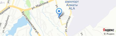Сункар на карте Алматы