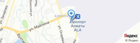 Эйр Астана на карте Алматы