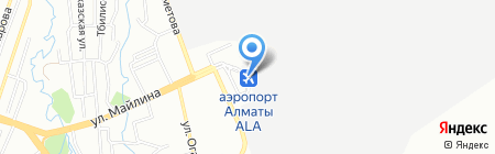Bek Air на карте Алматы