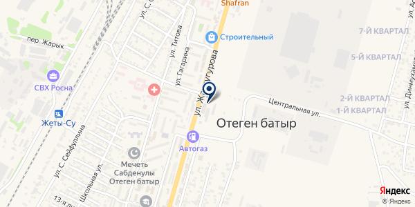 Водопровода и канализации Илийского района на карте Отегене Батыра