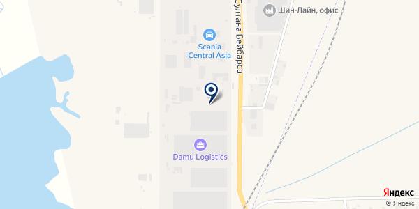 Медиатекс-Н, ТОО на карте Отегене Батыра