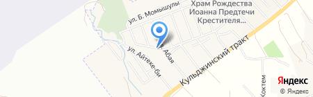 Удача продовольственный магазин на карте Гульдалы