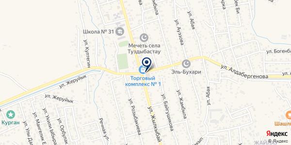 Нотариус Биназарова Д.А. на карте Туздыбастау