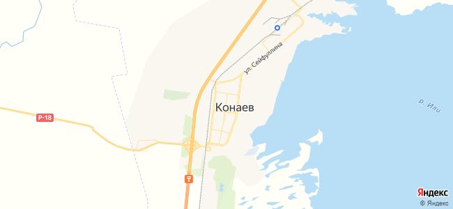 Капшагай - объекты на карте
