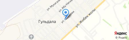 Кызыл гуль сервисная компания на карте Гульдалы