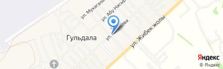 Почтовое отделение связи пос. Гульдала на карте Гульдалы