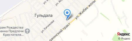 Похоронное бюро на ул. Жансугурова на карте Гульдалы